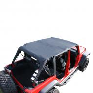 ISLAND TOPPER SOFT TOP, BLACK DIAMOND, RUGGED RIDGE JK 4-DOOR JK 07-08