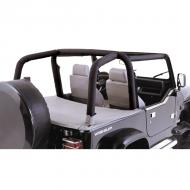 ROLL BAR COVER KIT (FULL KIT), DENIM BLACK, 97-02 JEEP WRANGLERCustom covers dress up your vehicles roll bar with light weight foam and summer soft goods fabric. Roll Bar Covers easily install using zippers and Velcro attachments. Special cut outs for seat belt locations make the covers look clean. Multiple Velcro attachments. Special cut outs for seat belt locations make the covers look clean. Multiple piece designs available for Wrangler models with over door cross members. Fit original equipment roll bars only.                      Replaces: 13612.15Made in CHINAUPC: 804314121174Label: KIT,PAD&CVR ROLL BAR 97-02