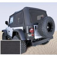 SOFT TOP, RUGGED RIDGE, FACTORY REPLACEMENT NO DOOR SKINS, TINTED WINDOWS, 97-02 WRANGLER, BLACK DEN