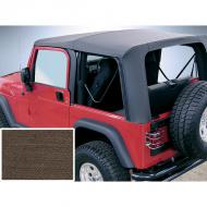 SOFT TOP, RUGGED RIDGE, FACTORY REPLACEMENT NO DOOR SKINS, 03-06 WRANGLER, DIAMOND KHAKI