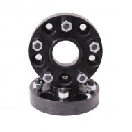 """WHEEL SPACER PAIR, BLACK 5 ON 5, JK 07-09 1.5' SPACERThese hub centric spacers space your wheels out an extra 1-3/8"""" (1.375"""") to help fit wider tires and give your vehicle a wider track and improved stability. Constructed of double anodized black extra thick 6061T6 aluminum for long life and stability. Constructed of double anodized black extra thick 6061T6 aluminum for long life and extra corrosion resistance. Wheel studs are grade-8 for extra strength. Included are 10 pre-installed wheel studs and 10 lug nuts. Sold in pairs.                     Replaces: 15201.05Made in TAIWANUPC: 804314123390Label: WHEEL SPACER PR BLK 07-09 JK"""