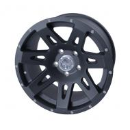 ALUMINUM WHEEL 17X9 JK, BLACK SATIN, RUGGED RIDGE, 12MM OFFSET, 5 ON 5