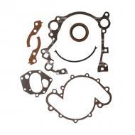 TIMING COVER GASKET SET V8 AMCReplaces: 8129098Made in USAUPC: 804314044886Label: GASKET SET TIMING V8 AMC