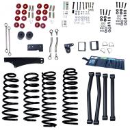 LIFT KIT WITHOUT SHOCKS, RUGGED RIDGE ORV, JK 07-09 2-DOOR 5 INCH, JK 07-09 4-DOOR 4 INCH