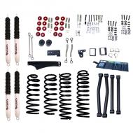 LIFT KIT, RUGGED RIDGE ORV, JK 07-09 2-DOOR 5 INCH, JK 07-09 4-DOOR 4 INCH WITH SHOCKS