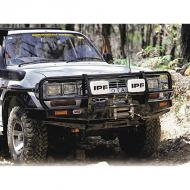 BUMPER LANDCRUISER, 80ARB bumpers incorporate a fully engineered mounting system which completely replaces the standard bumper. ARB pioneered the five fold upswept and tapered wing design, which provides enormous strength and maintains an optimum upswept and tapered wing design, which provides enormous strength and maintains an optimum approach angle. Mounting a winch requires a properly supported structure designed to accommodate the stresses of winching. All ARB numbers are designed and tested to endure and exceed such loads.                    Replaces: ARB-3411050Made in AUSTRALIAUPC: 804314065102Label: BUMPER LANDCRUISER, 80