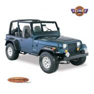"""FLARE KIT YJ CUT-OUT STYLEFor the most aggressive tire and wheel packages, choose Cut-Out Style! These flares give the TJ® wide coverage and tough, bold looks. They extend from 2"""" to 5"""" beyond the wheel-well opening!  from 2"""" to 5"""" beyond the wheel-well opening!                          Replaces: BSW-1090907Made in USAUPC: 804314069421Label: FLARE KIT YJ CUT-OUT STYLE"""