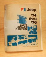 1974 through 1976 AMC Jeep Parts Catalog Revision # 1 This is an original. Not a replica.