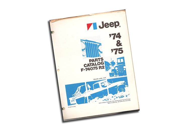 1974 & 1975 Jeep Parts Catalog Revision 2