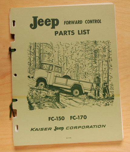 Jeep Forward Control Parts List FC-150 & FC-170